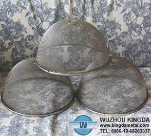 round metal mesh food cover round metal mesh food cover manufacturerWuzhou Kingda Wire Cloth