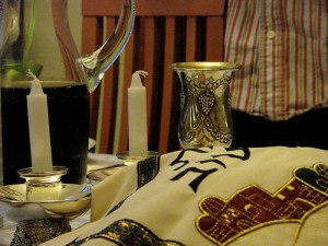 A Shabbat table