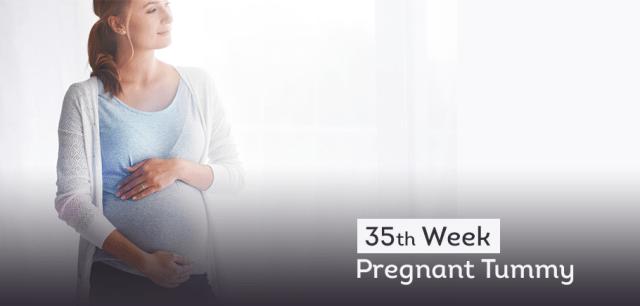 35 th Week Pregnant Tummy 1