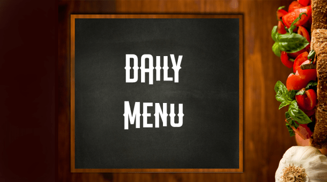 Example Daily Menu