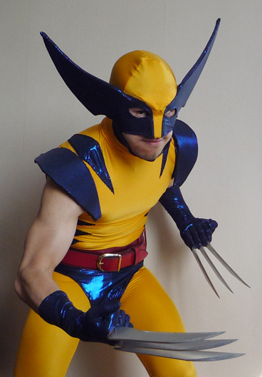 Wolverine classic yellow blue comic style Boots