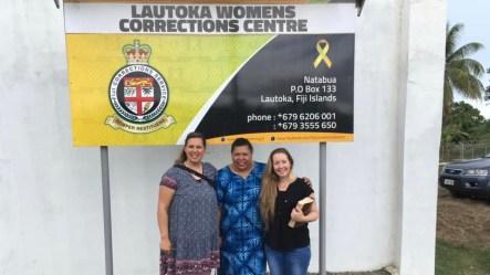 Ministering at lautoka women's corrections centre with Randini, Felz and Angie Lautoka, Fiji 2019