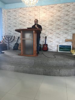 Ministering at Ps Pantas Church GBR, Batam Island, Indonesia 2019 - English Service