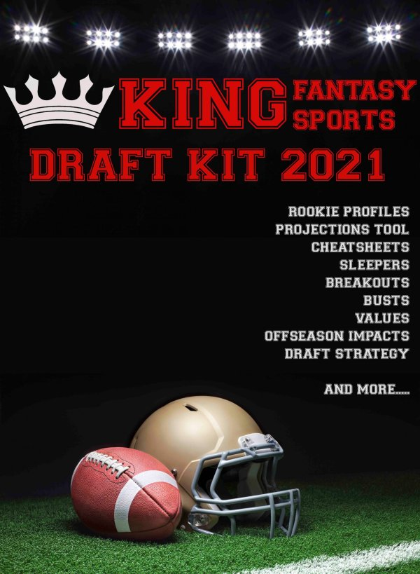 2021 Fantasy Football Draft Kit 2021 Draft Kit Fantasy Football King Fantasy Sports
