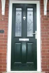 Composite Door & Black Composite Eclat Black EsteemArch ...