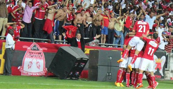 Abou-Treika celebrates goal