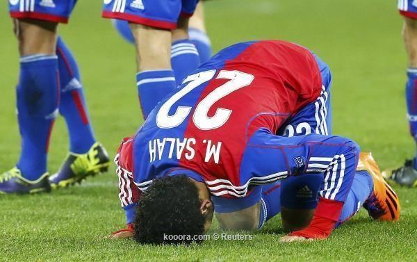 Mohamed Salah celebrates against Chelsea