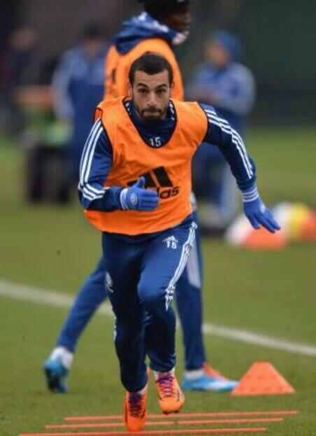 Salah took part of the training on Friday.