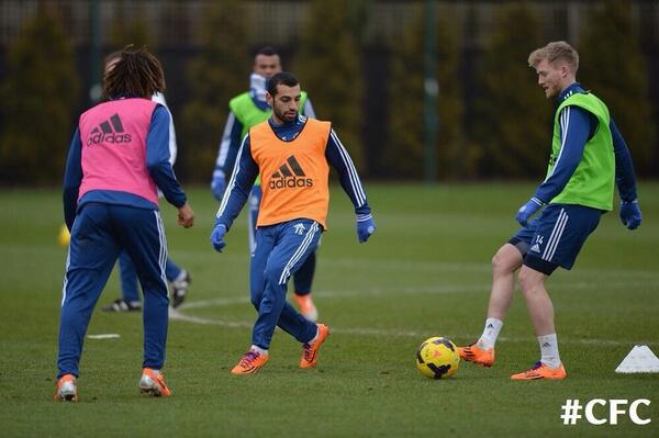 Mohamed Salah trains with Chelsea - Schurrle