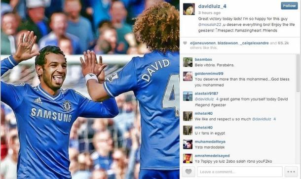 Chelsea players delighted for Salah - David Luiz
