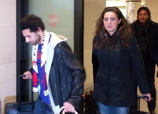 Salah arrives