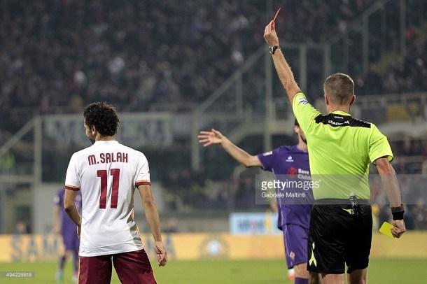 Salah red card