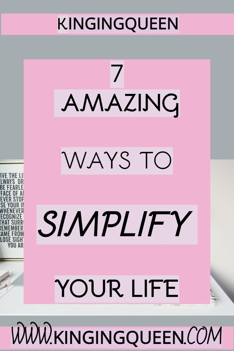 graphic showing 7 ways to simplify life