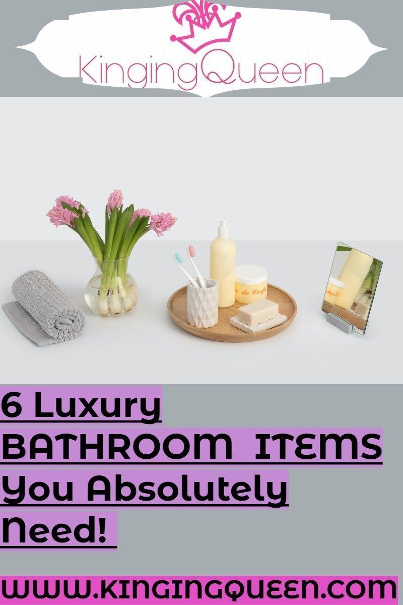 luxury bathroom touches