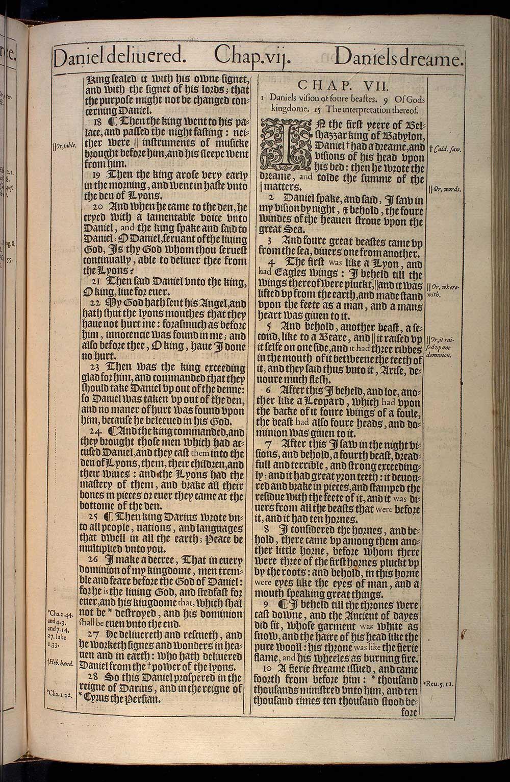 The Booke Of Daniel Original 1611 Kjv