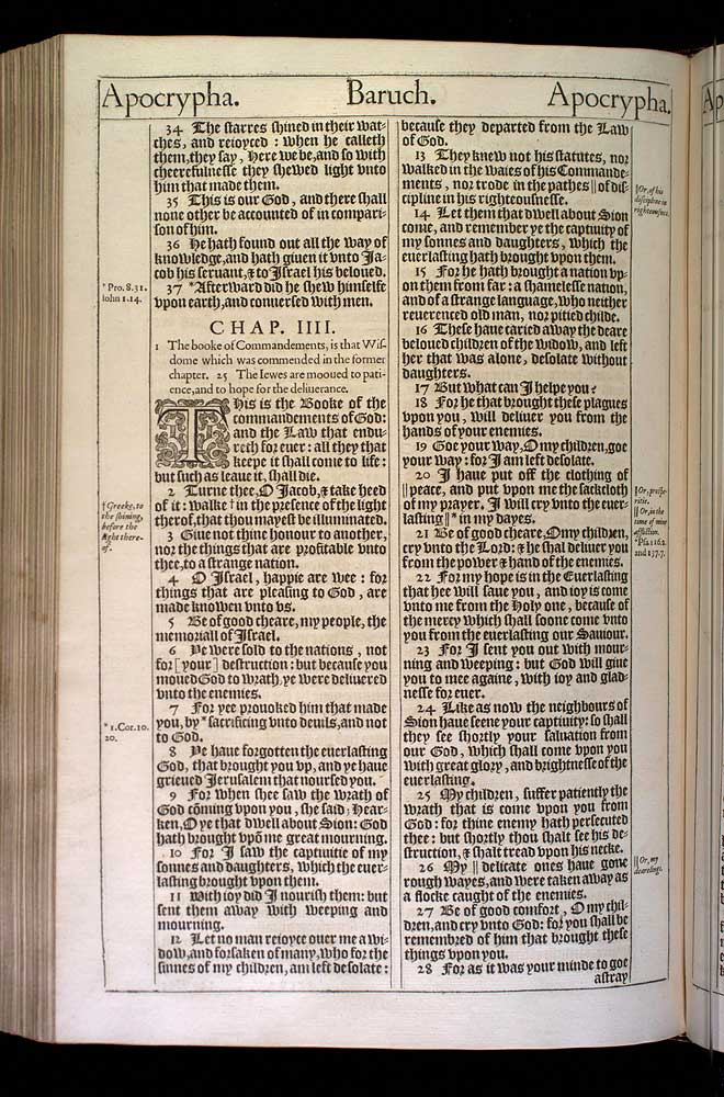 Baruch Chapter 4 Original 1611 Bible Scan