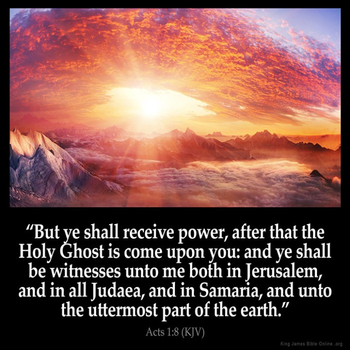 Acts 1:8 Inspirational Image