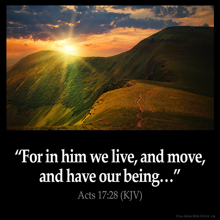 Acts 17:28 Inspirational Image