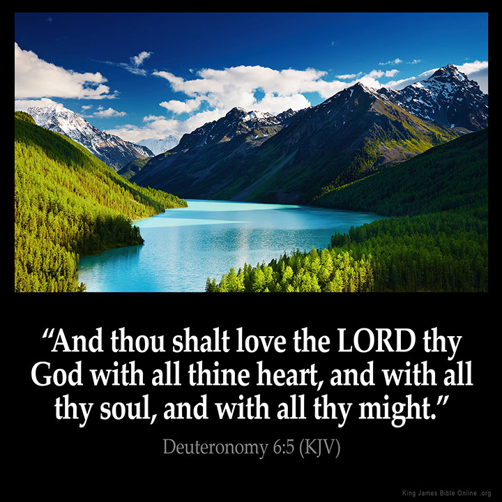 Deuteronomy 6:5 Inspirational Image