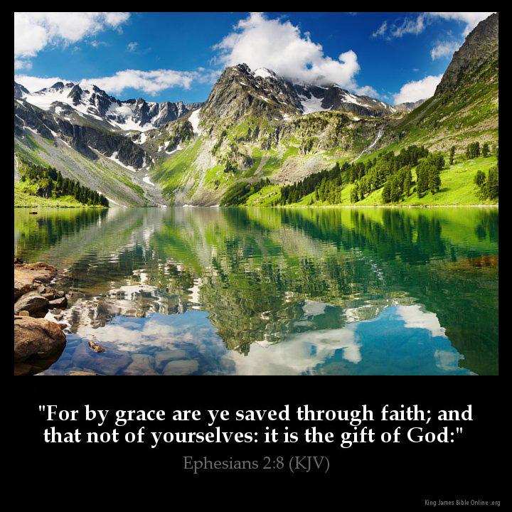 Ephesians 2:8 Inspirational Image