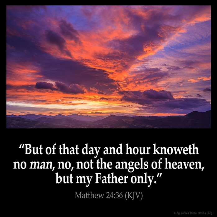 Matthew 24:36 Inspirational Image