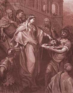 Matthew Chapter 14: Herod's Daughter Receives the Head of John the Baptist