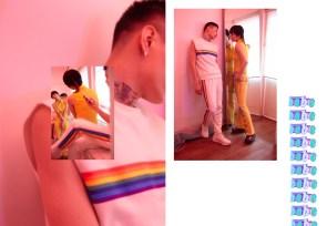 Top - Versace (stylist's own) | Trousers - Angel Chen | Shoes - KKTP | Full look - Xander Zhou