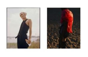 Full look - YOHJI YAMAMOTO | belt - ACNE STUDIO | Blouse - PRADA, sweater and shoes - stylist's own | t-shirt - CALVIN KLEIN