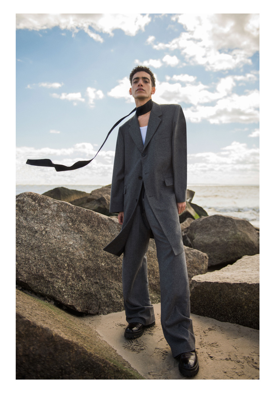 Scarf - Fingers Crossed | Coat - Duckie Brown | Shirt - COS | Trousers - Fingers Crossed | Shoes - Stylist's own
