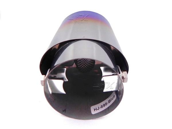 Punta de escape flameada universal compatible con tubos de escape con 35 a 62 mm de diametro.