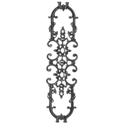 Double Faced Cast Iron Railing Panel