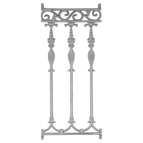 Cast Iron 3 Picket Railing Panel