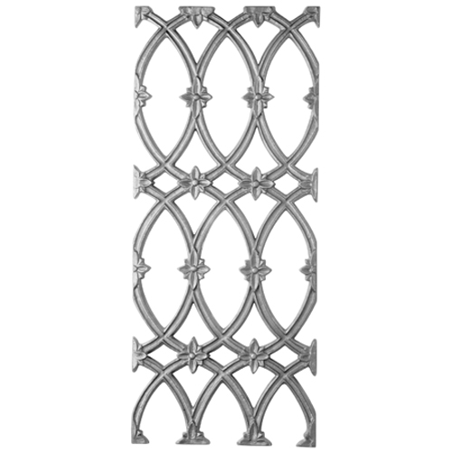 Cast Iron Casting, Gothic Design, Double Faced. 11-3/4