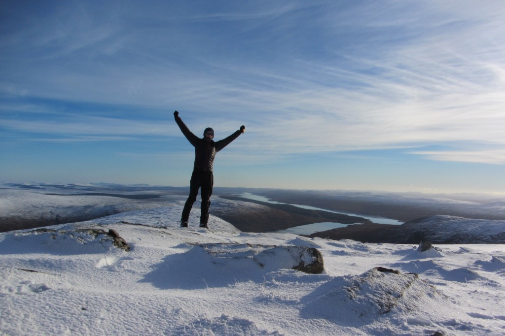 Enjoying myself on Meall an Fhuar Loch