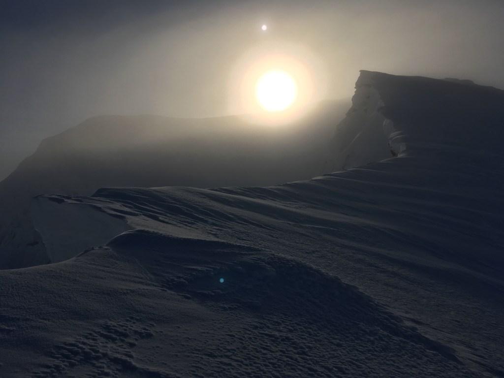 Northeast ridge of Sgurr nan Clach Geala in winter