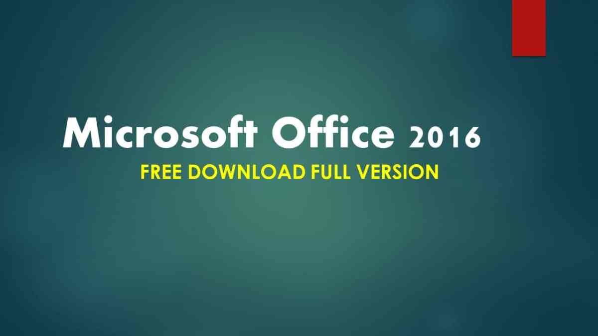 Microsoft Office 2016 free download Full Version