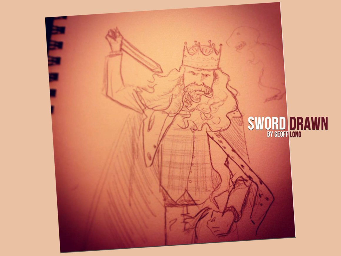 King of St Louis Sword Drawn By Geoff Long