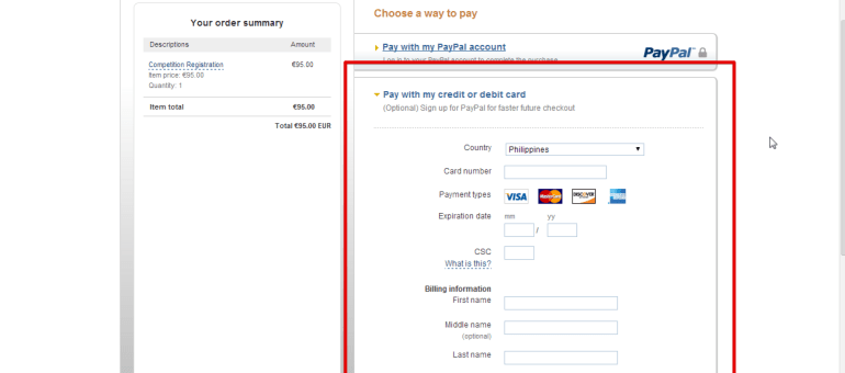 kingpabel blog payapl payment form