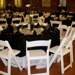 Chair Covers And Tablecloth Rentals Pottery Barn Megan King Party Linens Rental Black White Wedding