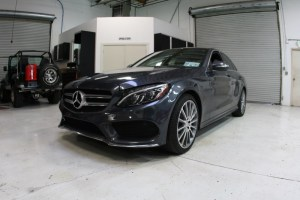 Mercedes C400 Audio Build and Radar Detection for Portland Client