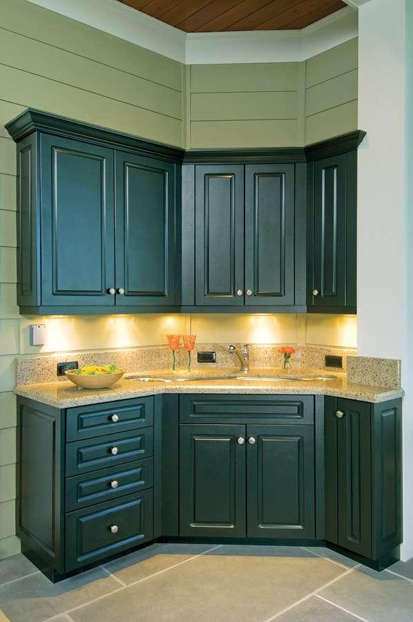 Polymer Indoor Kitchen Cabinets