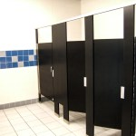 Restroom Partitions Made with King Plasti-Bal® Ebony