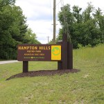 Park Entrance Sign Made with King ColorCore® Custom Color Brown/Yellow/Brown