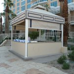 Agua Caliente Outdoor Cabana Cabinets Made with King StarBoard® ST Sanshade