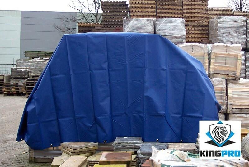 bache pvc 570g m verte ou bleue