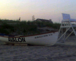 29th Street Beach Life Saving Boat June 2008