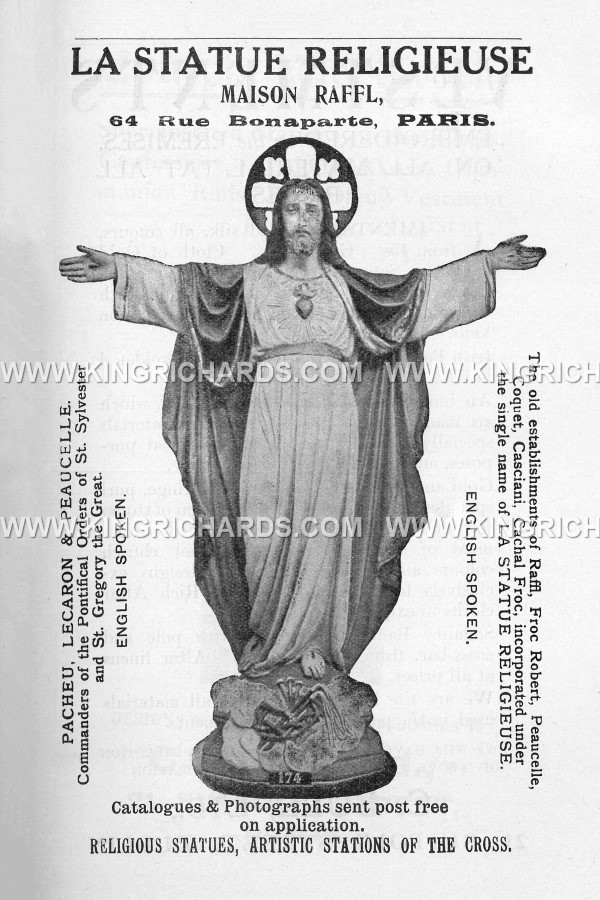 Historical Statuary Companies  King Richards Religious Antiques