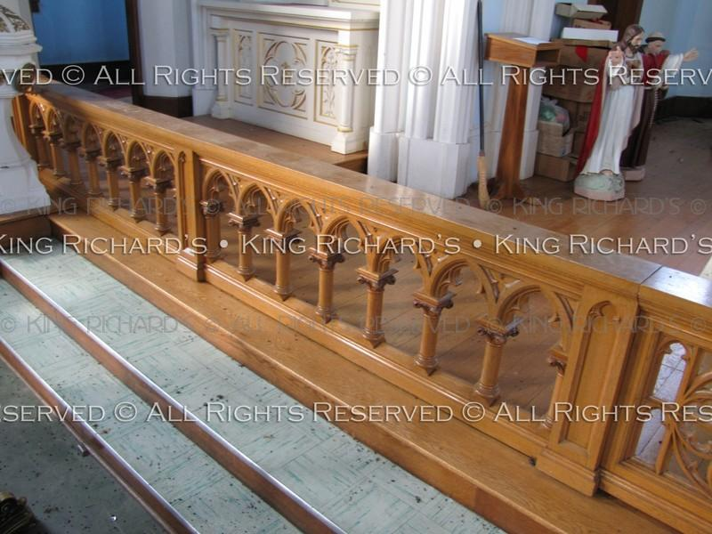 AltarRailsAntique  Very fine hand carved Gothic oak