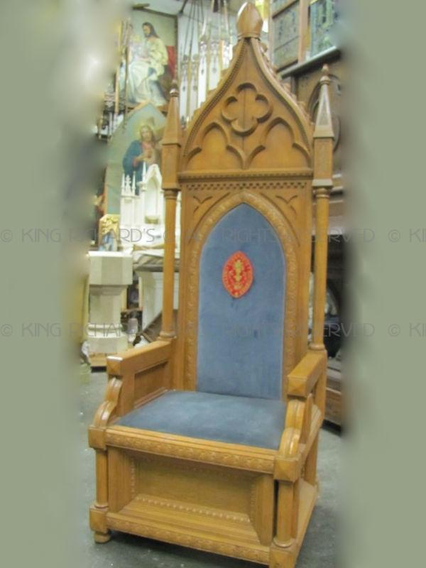 BishopChairs  Vintage Carved Bishops Chair
