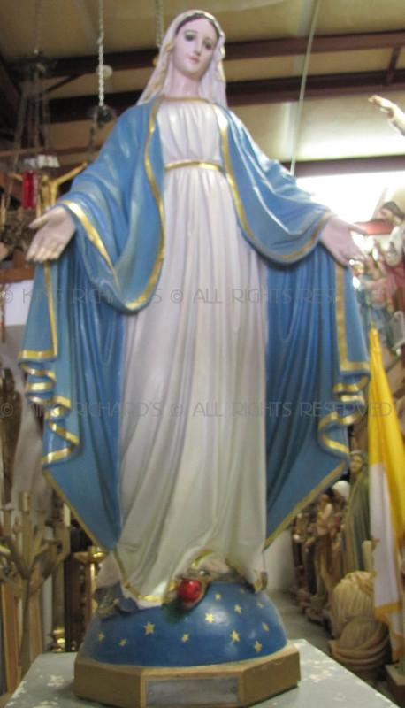 MaryOurLadyofGrace  Vintage Plaster Statue Of Our